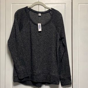 NWT Old Navy gray long sleeve thin sweater size M
